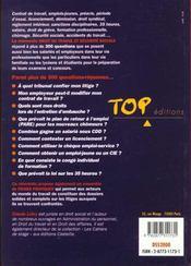 Droit du travail et sécurité sociale. Edition 2000-2001 - 4ème de couverture - Format classique