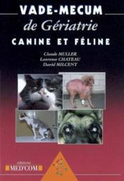 Vade-mecum de gériatrie canine et féline - Couverture - Format classique