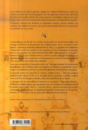 La méditerranée géopolitique et relations internationales - 4ème de couverture - Format classique
