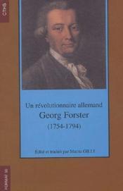 Format T.55; Un Revolutionnaire Allemand ; Georg Foster (1754-1794) - Couverture - Format classique