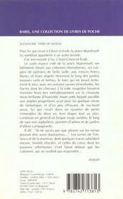Alexandrie terre de safran - 4ème de couverture - Format classique