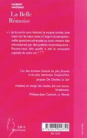 La Belle Remoise - 4ème de couverture - Format classique