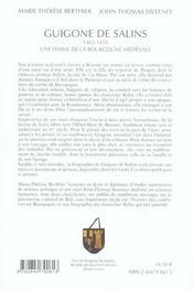 Guigone De Salins 1403-1470 - 4ème de couverture - Format classique