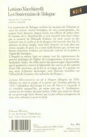 Souterrains De Bologne (Les) - 4ème de couverture - Format classique
