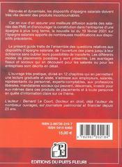 L'Epargne Salariale P.E.E-P.E.I-P.P.E.S.V. Mode D'Emploi - 4ème de couverture - Format classique