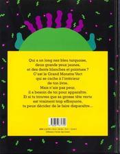 Va-t-en grand monstre vert ! - 4ème de couverture - Format classique