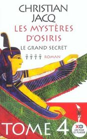Vente  Les mysteres d'osiris - tome 4 le grand secret - vol04  - Christian Jacq