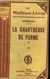 La Chartreuse De Parme. Tome 4. Collection : Les Meilleurs Livres N° 96. - Couverture - Format classique