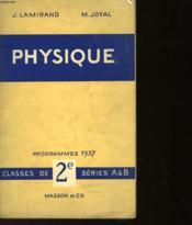 Physique - Classes De 2° Series A Et B - Couverture - Format classique