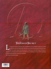 Le triangle secret - I.N.R.I. t.2 ; la liste rouge - 4ème de couverture - Format classique