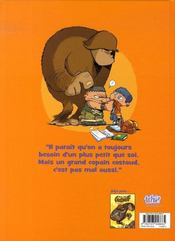 Mon ami grompf t.2 ; gare au gorille - 4ème de couverture - Format classique