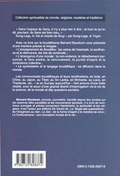 Le Bouddhisme - 4ème de couverture - Format classique