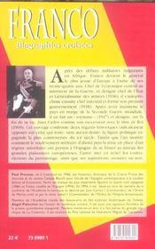 Franco - 4ème de couverture - Format classique