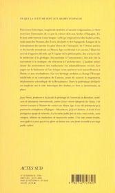 Ce Que La Culture Doit Aux Arabes D'Espagne (Nouvelle Edition) - 4ème de couverture - Format classique