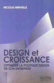 Design et croissance ; optimiser la politique design de son entreprise - Intérieur - Format classique