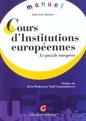Memento Institutions Europeennes - Intérieur - Format classique