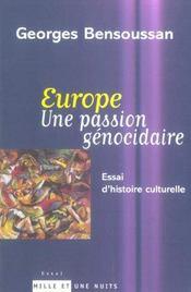 Europe Une Passion Genocidaire - Intérieur - Format classique