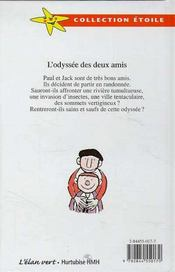 L'Odyssee Des Deux Amis - 4ème de couverture - Format classique