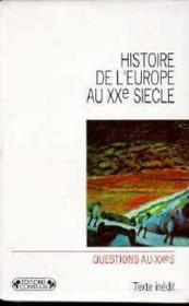 Histoire europe - Couverture - Format classique