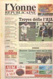 Yonne Republicaine (L') N°261 du 11/11/1999 - Couverture - Format classique