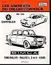 Simca 1000 Rallye - Rallye 1-2 Et 3 - 1200s N 37 - Couverture - Format classique