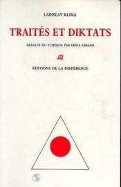 Traites Et Diktats. - Couverture - Format classique