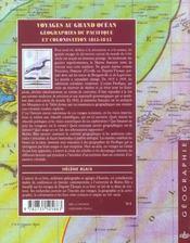 Voyages Au Grand Ocean ; Geographies Du Pacifique Et Colonisation, 1815-1845 - 4ème de couverture - Format classique