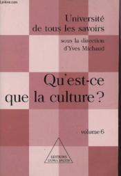 Qu'Est-Ce La Culture ? - Couverture - Format classique