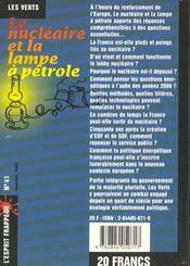 Le Nucleaire Et La Lampe A Petrole - 4ème de couverture - Format classique