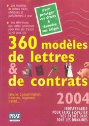 360 Modeles De Lettres Et De Contrats - Intérieur - Format classique