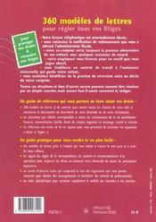360 Modeles De Lettres Et De Contrats - 4ème de couverture - Format classique