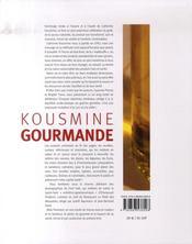 Kousmine gourmande - 4ème de couverture - Format classique