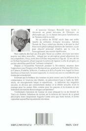Antoine destutt de tracy ; homme de la liberte - 4ème de couverture - Format classique