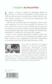 L'Algerie De Bouteflika - 4ème de couverture - Format classique