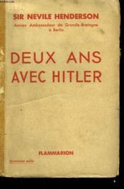 Deux Ans Avec Hitler. - Couverture - Format classique