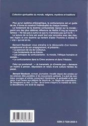 Confucianisme - 4ème de couverture - Format classique