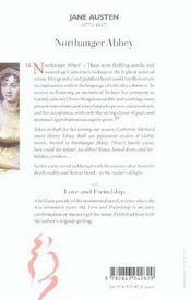 Northanger abbey ; love and friendship - 4ème de couverture - Format classique