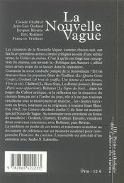 La petite anthologie t.3 ; la nouvelle vague - 4ème de couverture - Format classique