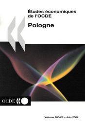Etudes economiques de l'ocde : pologne - volume 2004-8 - 4ème de couverture - Format classique