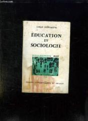 Education Et Sociologie. - Couverture - Format classique