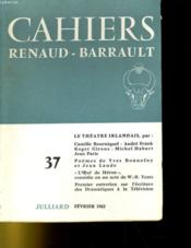 Cahiers Renaud - Barrault N°37 - Couverture - Format classique