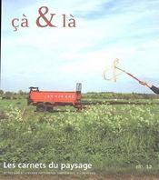 Les carnets du paysage n 12 ca et la - Intérieur - Format classique