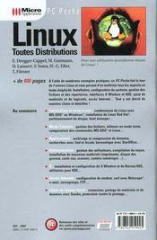 Linux Toutes Distributions - 4ème de couverture - Format classique
