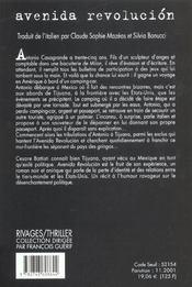 Avenida Revolucion - 4ème de couverture - Format classique