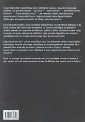 Sciences Au Musee Sciences Nomades - 4ème de couverture - Format classique