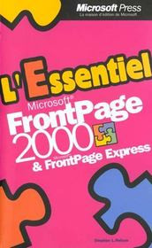 FrontPage 2000 & FrontPage Express - Intérieur - Format classique