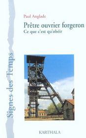 Pretre ouvrier forgeron - Intérieur - Format classique