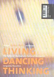 Habiter, danser, penser - 4ème de couverture - Format classique