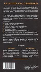Guide du comédien (8e edition) - 4ème de couverture - Format classique