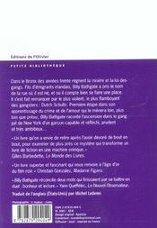 Billy Bathgate - 4ème de couverture - Format classique